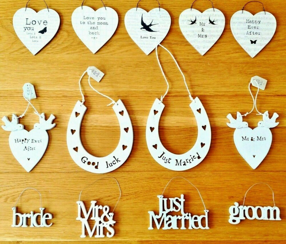 EAST OF INDIA SMALL WOODEN WEDDING SIGNS WEDDING GIFTS