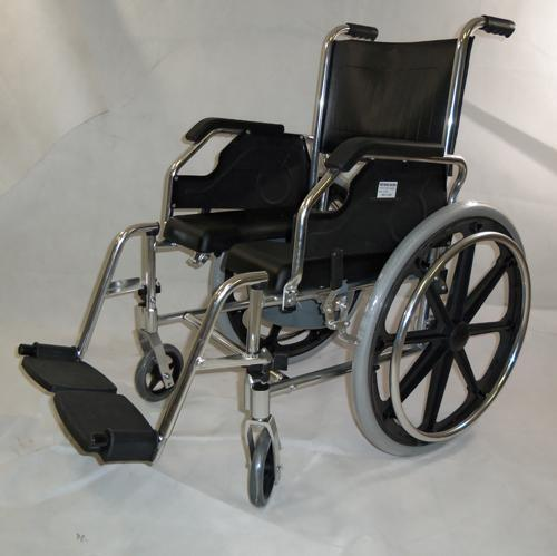 New 2 In 1 Aluminum Shower Wheelchair Commode Wheelchair