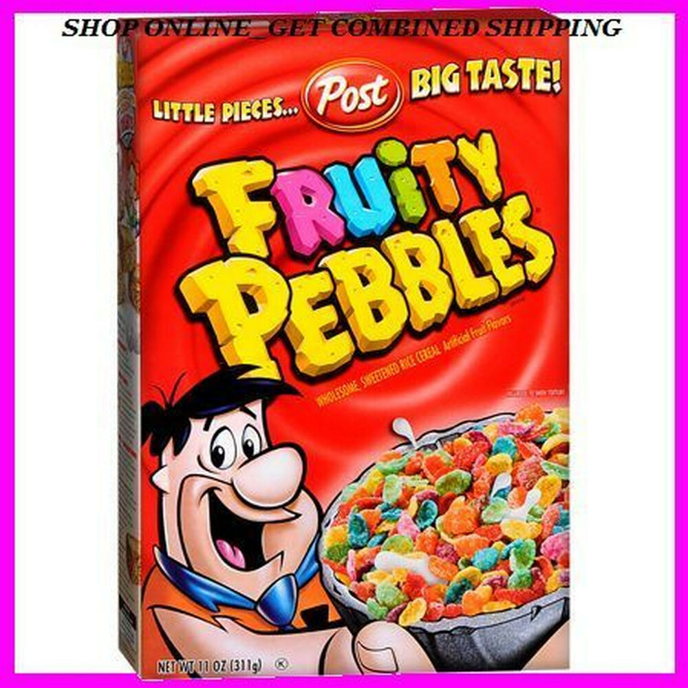 Post Fruity Pebbles Sweetened Rice Cereal 11 0z. Exp. NEW