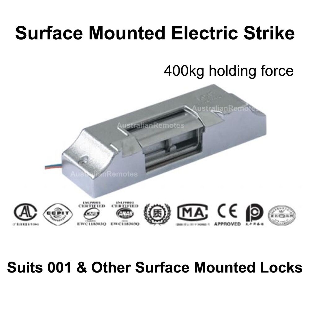 Surface mount electric door strike suits 001 rim lock for Surface lock