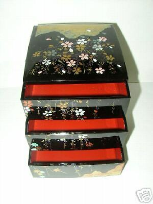 japanese jubako 10 lunch dinner lacquer box bento new ebay. Black Bedroom Furniture Sets. Home Design Ideas