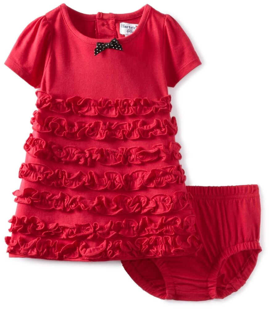 Ruffled dress amp diaper cover set red size 0 3 months nwt 42 ebay