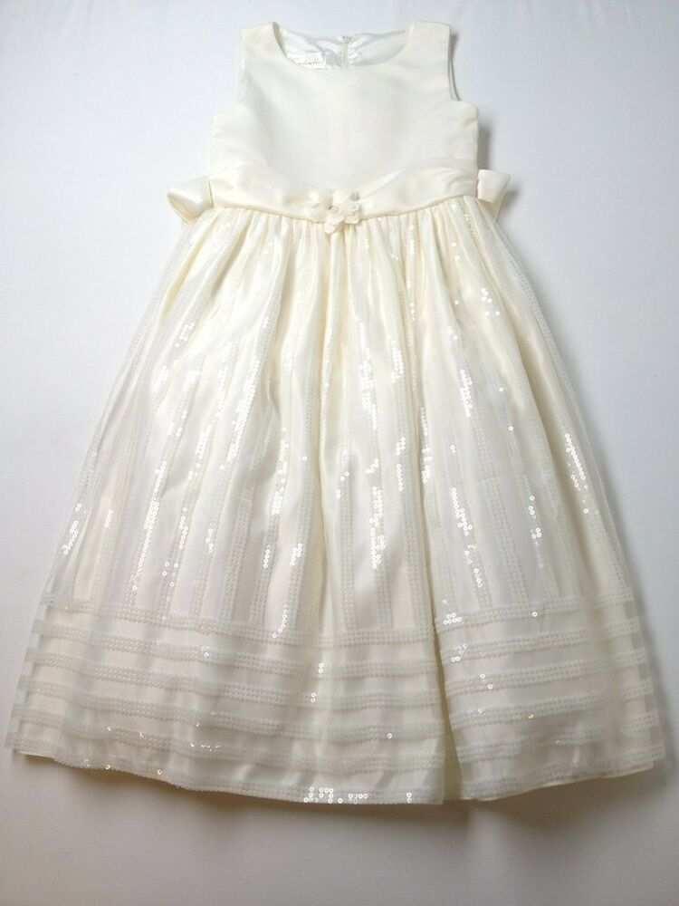 girl cinderella brand off white easter holiday dress 12