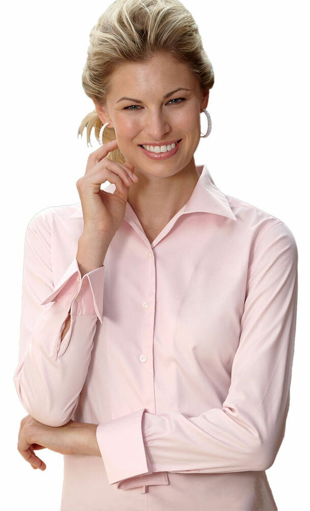 Ultraclub Women 39 S Convertible Collar Wrinkle Free French