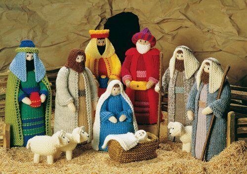 Knitting Pattern Christmas Crib Nativity Scene Booklet : Knitting pattern Christmas Crib Nativity scene booklet eBay