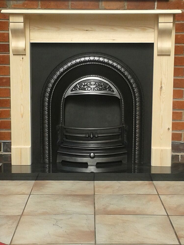 Fire Surround With Corbels Pine Mantel Solid Pine Wooden