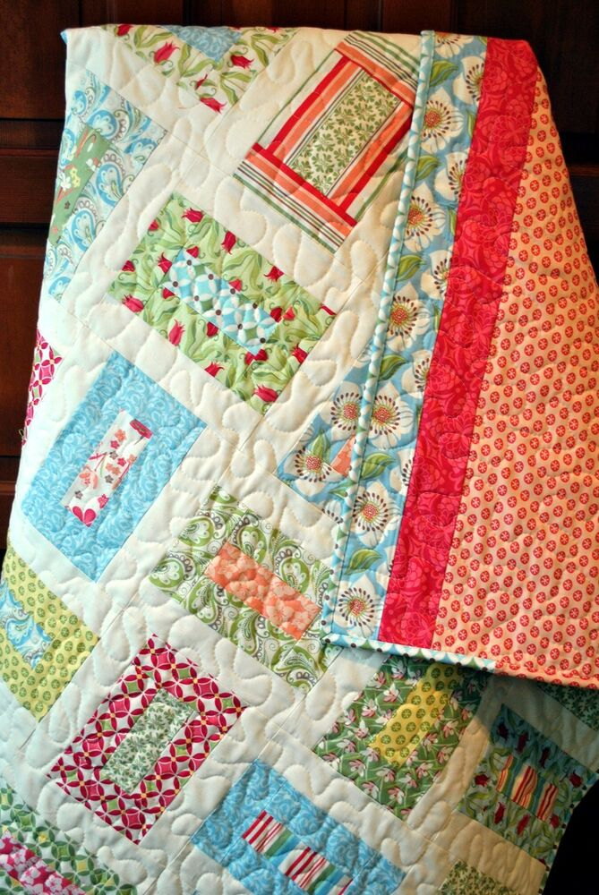Layer Cake Quilt Patterns Easy : QUILT PATTERN 5 sizes, layer cake, Fat Quarters and scrap ...