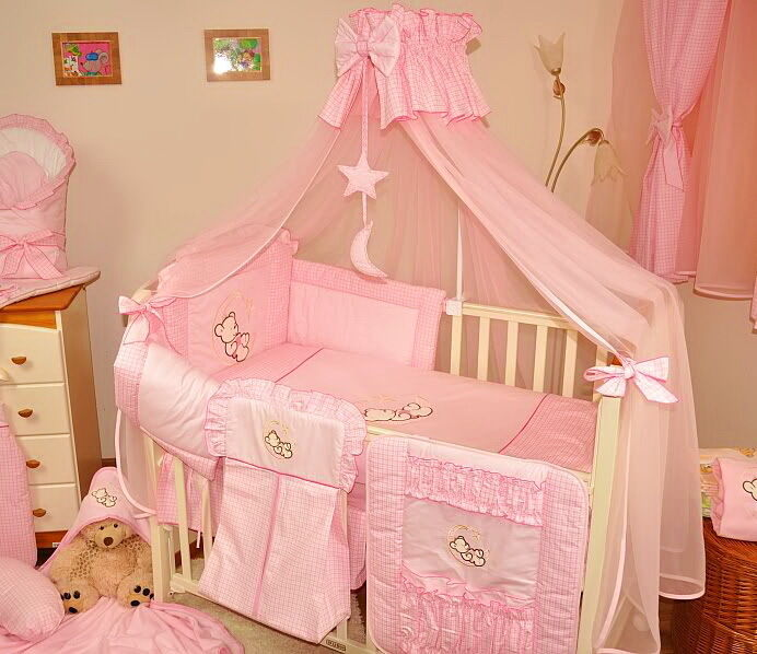 Baby Cot Cot Bed Canopy Drape Mosquito Net 485cm