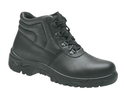 grafters m5501a safety steel toe cap womens black leather