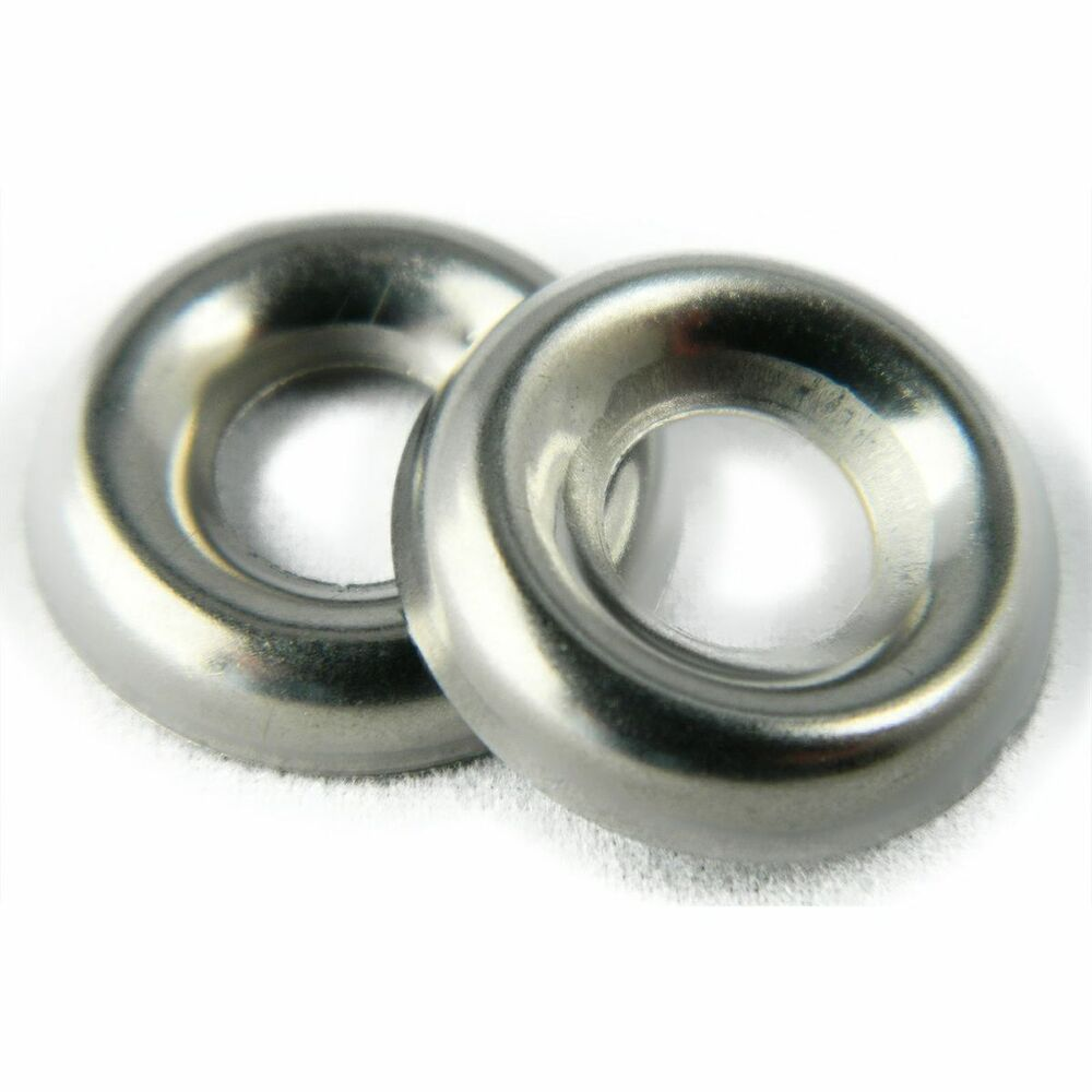 Stainless Steel Cup Washer Finishing Countersunk 1 4 Quot Qty