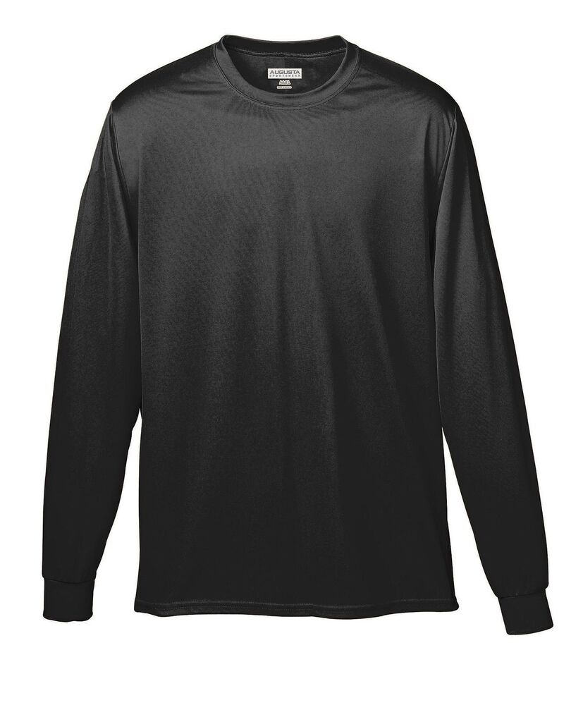 Augusta sportswear youth coverstitched collar wicking long for Long sleeve t shirts with collar