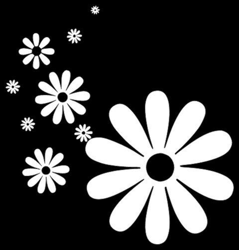 Flowers Flower Power Daisy Car Sticker Decal New Vinyl Art