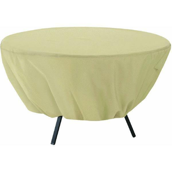 "Round Terrazzo Patio Table Cover Classic Accesories up to 50"" tabl"