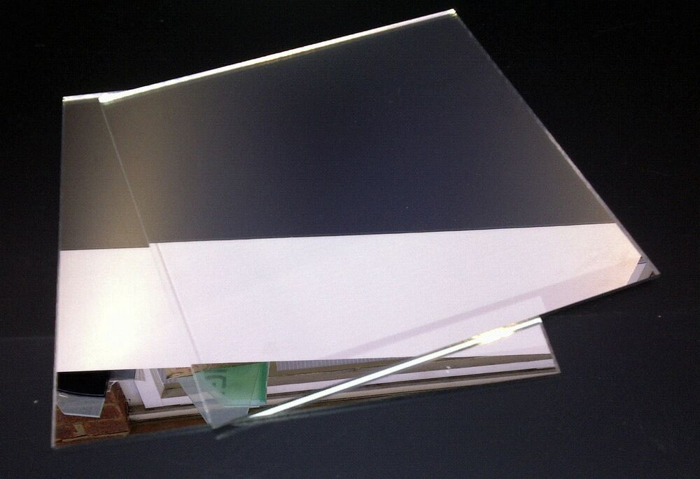 Pack Of 5 Silver Mirror Mirrored Acrylic Sheets A4 Perspex