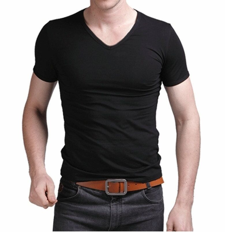 Fashion High Elastic Lycra Cotton Men 39 S Short Sleeve V