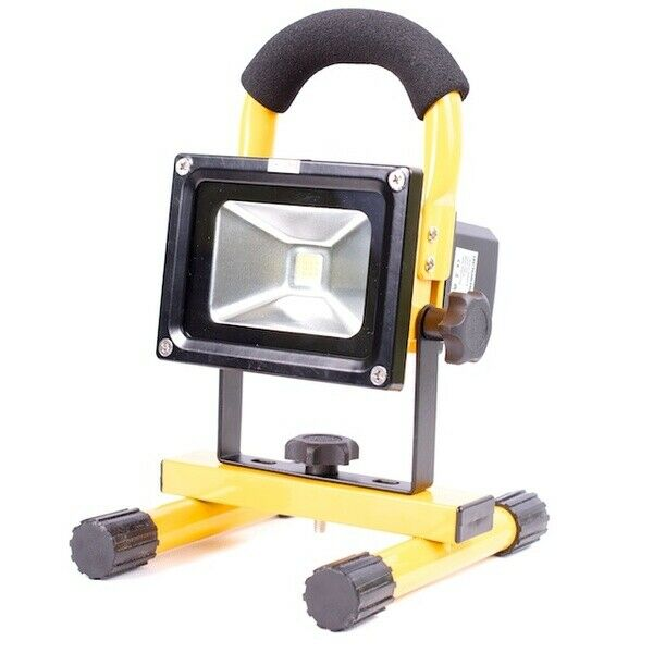 portable 10w led work light with rechargeable lithium battery ebay. Black Bedroom Furniture Sets. Home Design Ideas