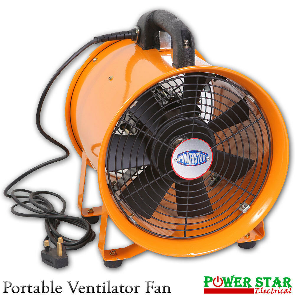 Portable Blower Fans : Extractor fan portable ventilator industrial air axial