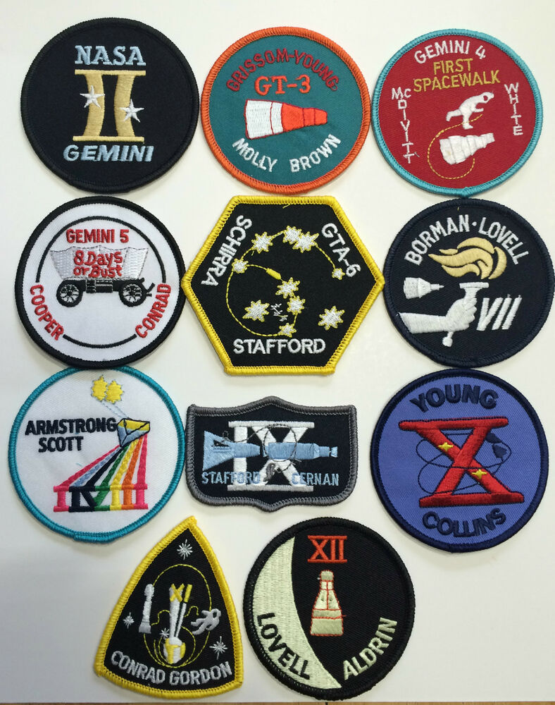 New Official NASA Space Program Gemini Patch Emblem Set ...