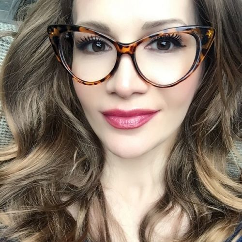 1067dd7be3 70s Sexy Nikita CAT EYE Brown Tortoise Clear Fashion EyeGlasses Big Frames  1377