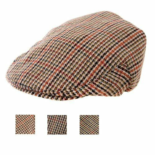 Mens Ladies Childrens Tweed Country Flat Cap 8 Sizes  e182ad0237e