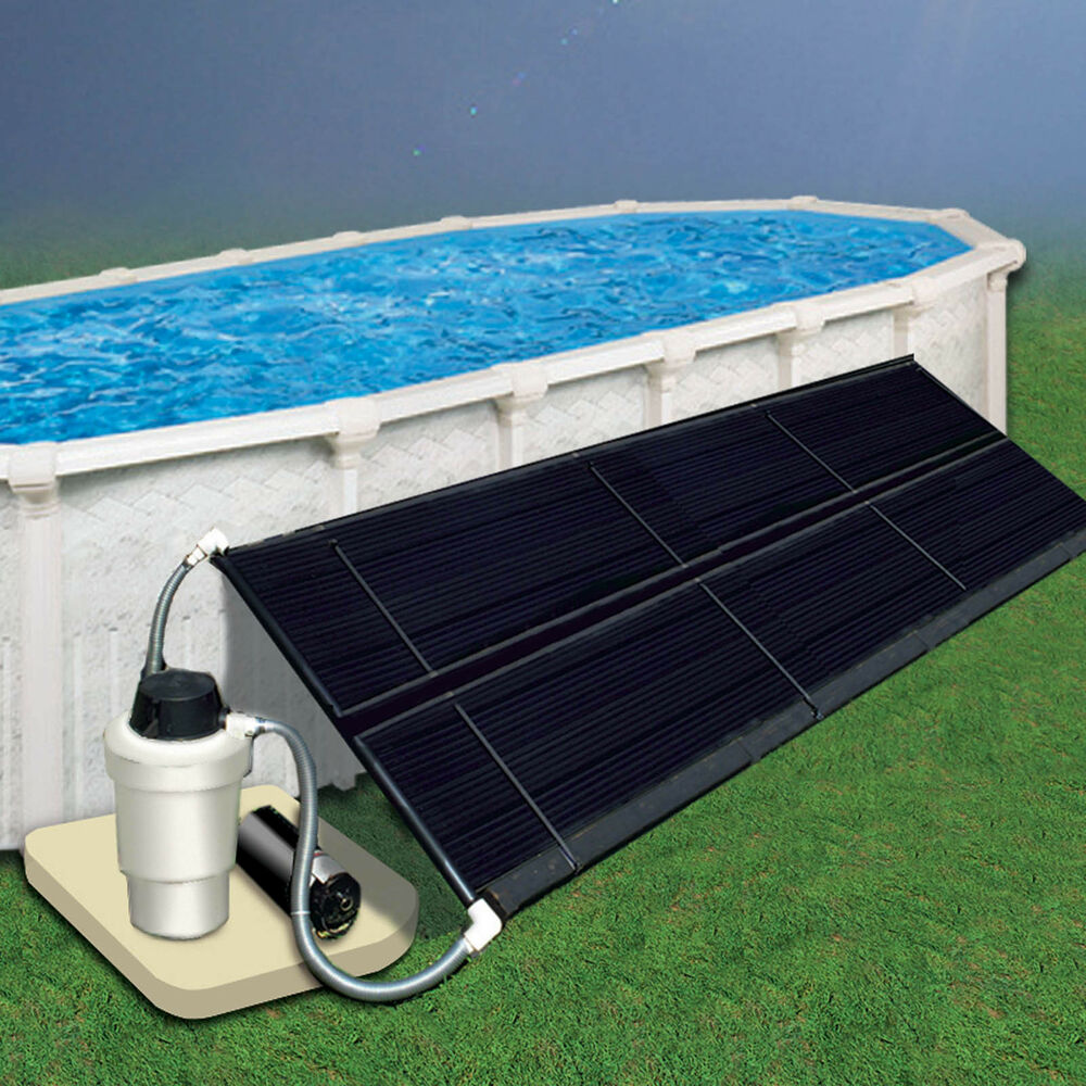 Above ground 4x10 space saver solar panel collector kit ebay for Solar heaters for swimming pools