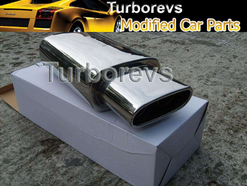 vw polo golf passat stainless steel sports universal exhaust back box 006 vw ebay. Black Bedroom Furniture Sets. Home Design Ideas