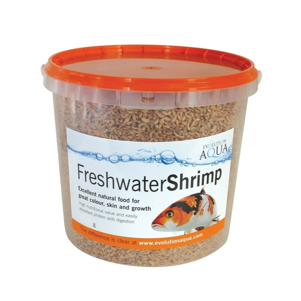 Evolution aqua freshwater shrimps 650g high protein koi for Protein in fish