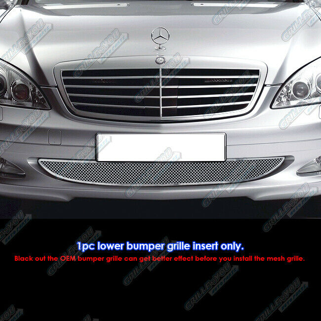 2007 2009 Mercedes Benz S450 S550 S600 Stainless Steel Bumper Mesh Grille Grill Ebay