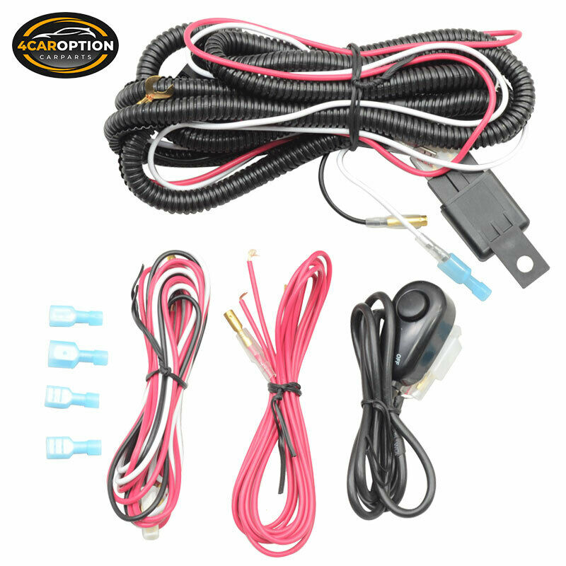 s l1000 universal led fog lamp 12v wiring harness wire switch relay kit  at cos-gaming.co