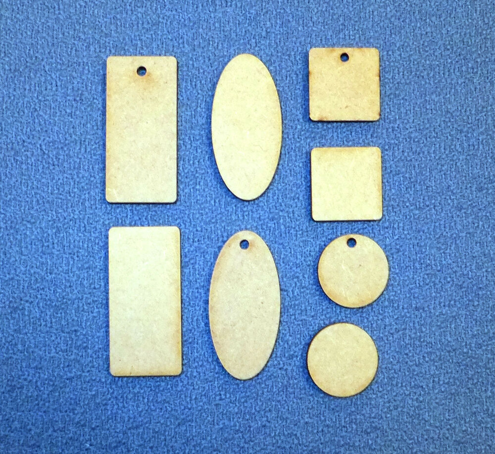 Mdf squares circles ovals and oblongs wooden craft for Wood circles for crafts