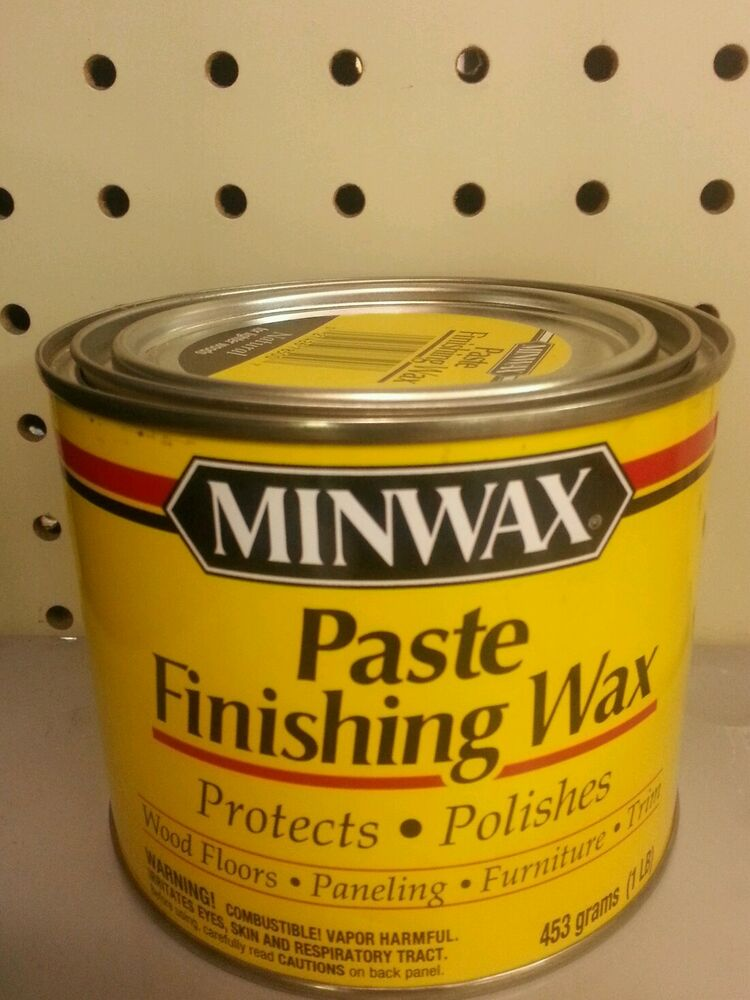 Minwax Paste Finishing Wax Natural Protects And Polishes
