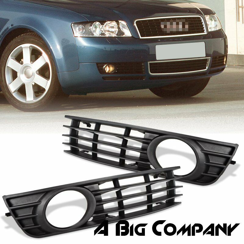 pair front bumper lower fog light grille insert for audi. Black Bedroom Furniture Sets. Home Design Ideas
