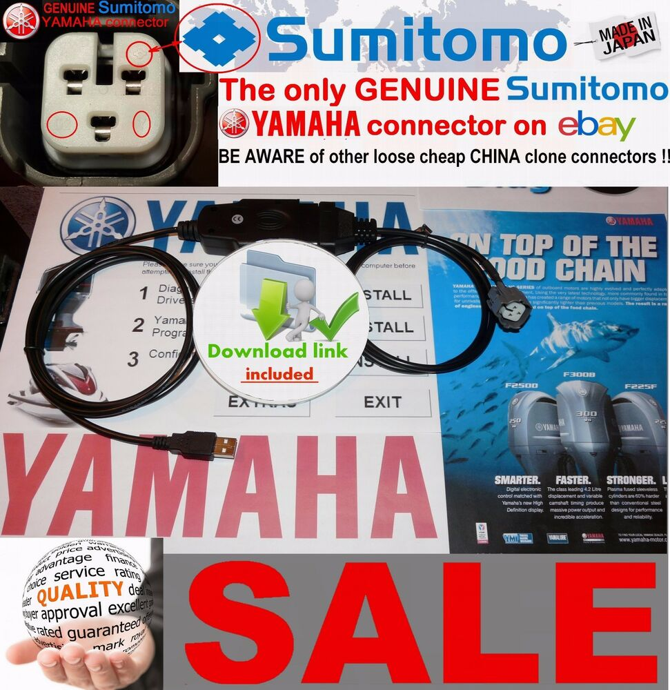 Yamaha Outboard / Jet Boat / WaveRunner YDS Diagnostic cable set  (Plug&play) | eBay