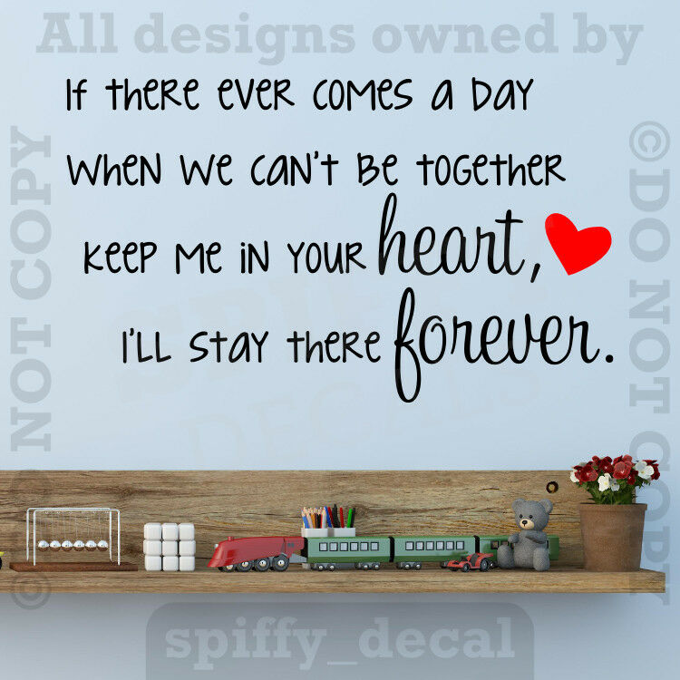 Winnie The Pooh Wall Quotes: Winnie The Pooh Heart Forever Quote Vinyl Wall Decal Decor