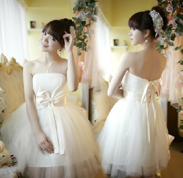 Hot sale padded short mini bridesmaid prom party evening for Short wedding dresses for sale