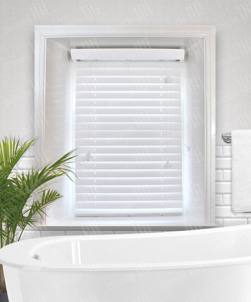 Snow White Faux Wood Venetian Blinds 38mm 50mm Or 63mm