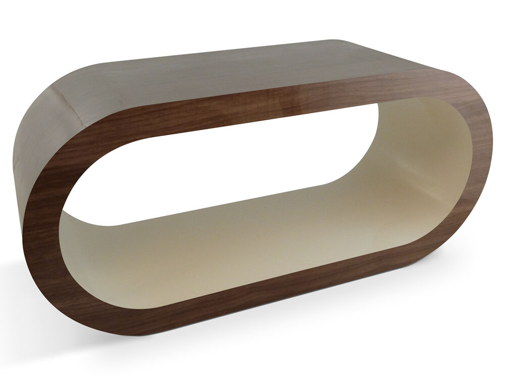 Bespoke designer wooden coffee table extra large modern contemporary oval ebay Wood oval coffee table