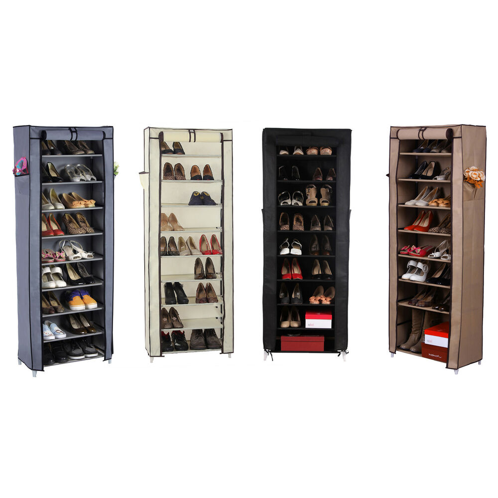 10 schicht schuhregal staubdichtes schuhschrank. Black Bedroom Furniture Sets. Home Design Ideas