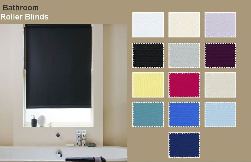 Bathroom roller blinds blackout waterproof roller blinds made to measure ebay - Bathroom shades waterproof ...