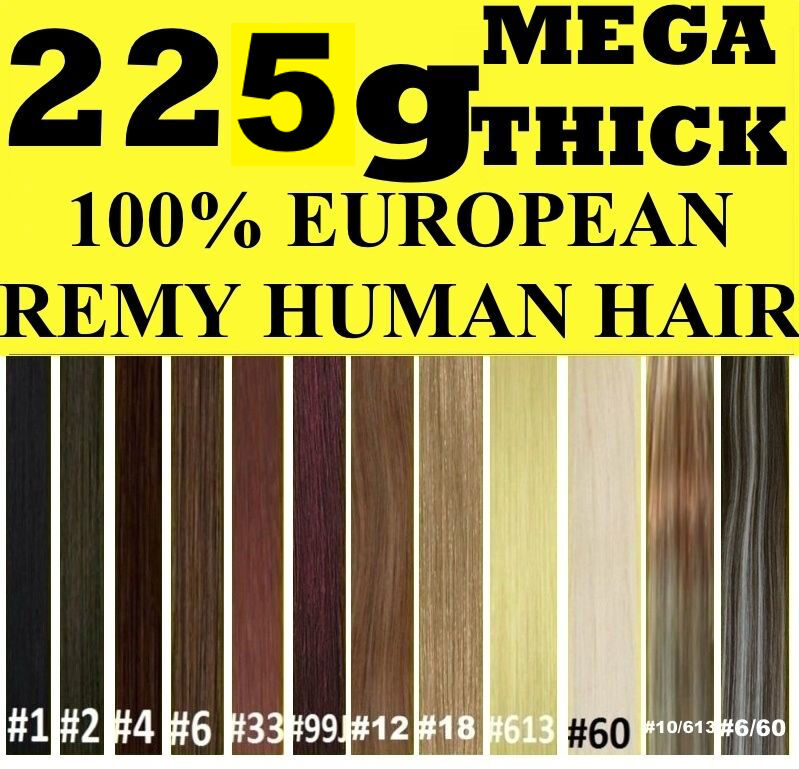 Thick Clip In Remy Human Hair Extensions 2