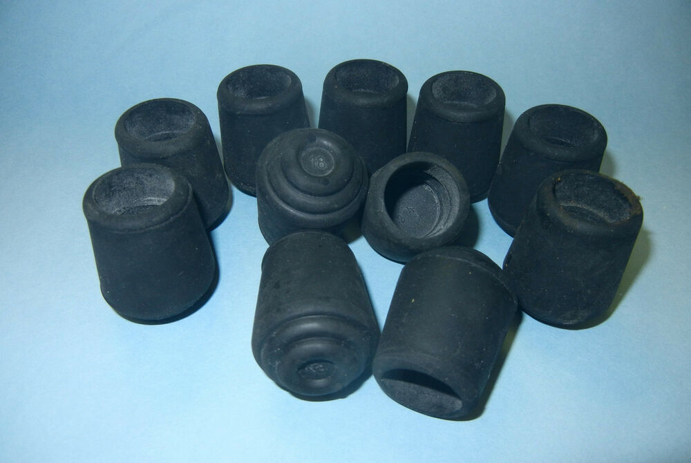 12 ea 3 4 black heavy duty rubber tips for canes chair legs walker usa 18 ebay - Replacement chair leg tips ...