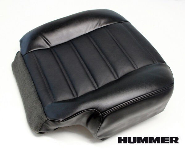 03 07 Hummer H2 Sut Suv Lifted Lift Kit Driver Bottom Leather Seat Cover Black Ebay