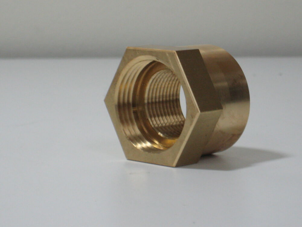 Brass adapter fitting quot npsm to npt female ebay