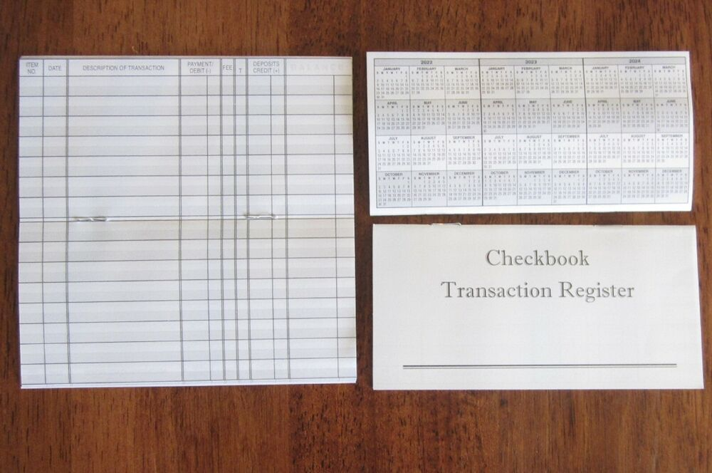 8 Checkbook Transaction Registers Calendar 2017 2018 2019