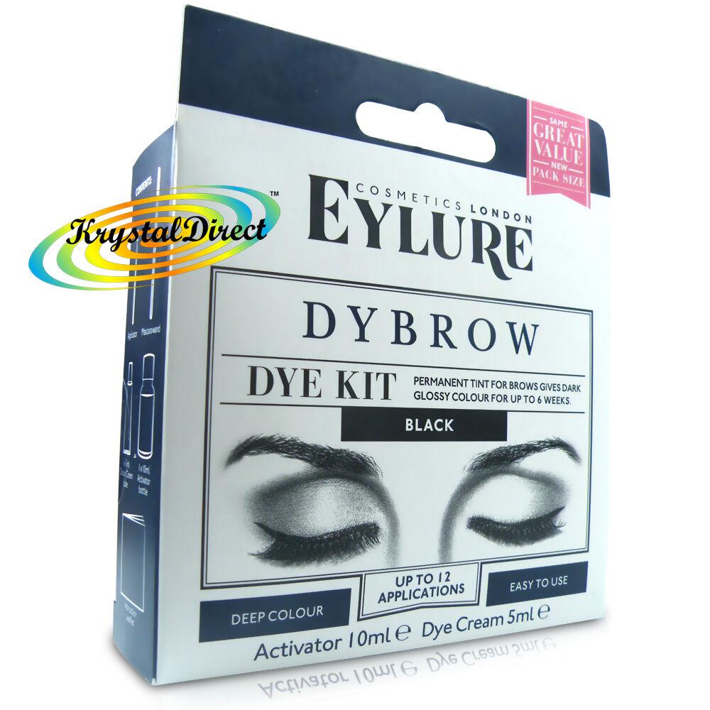 Eylure Dybrow Eye Black Permanent Tint Color Eyebrow Dye Kit