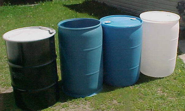 55 gallon barrels drums metal steel plastic shipped only 2 for Metal 55 gallon drum