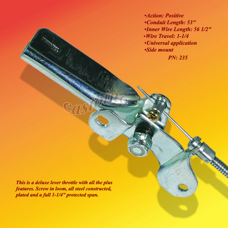 Lever Locking Control Cables : Universal throttle controls cables available in lever