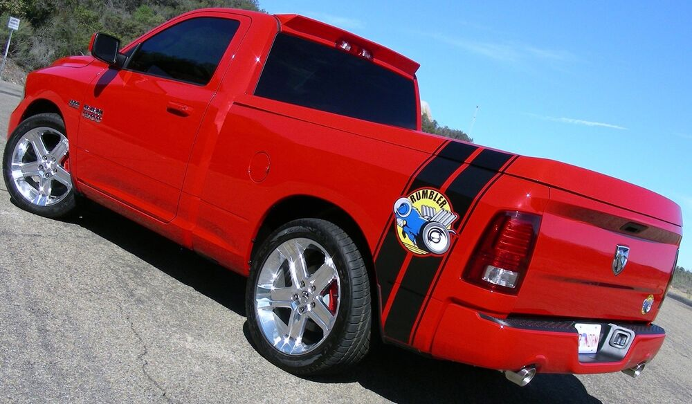09 16 Dodge Ram 1500 2500 Mr Norms Rumbler Canted Stripes