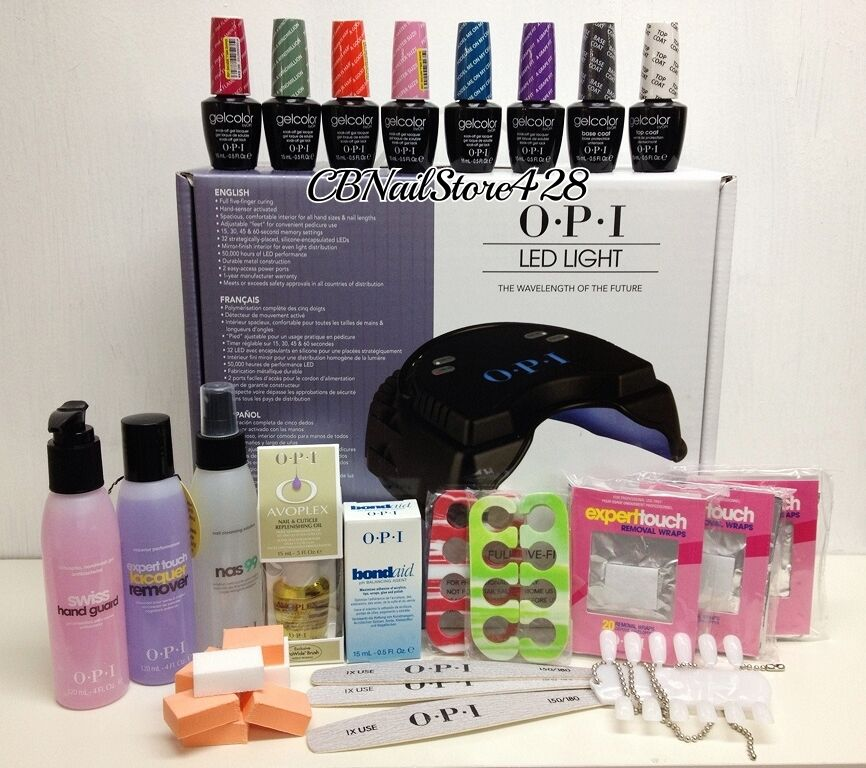Opi Gelcolor Master Kit B Lamp Swiss Nas Remover 6