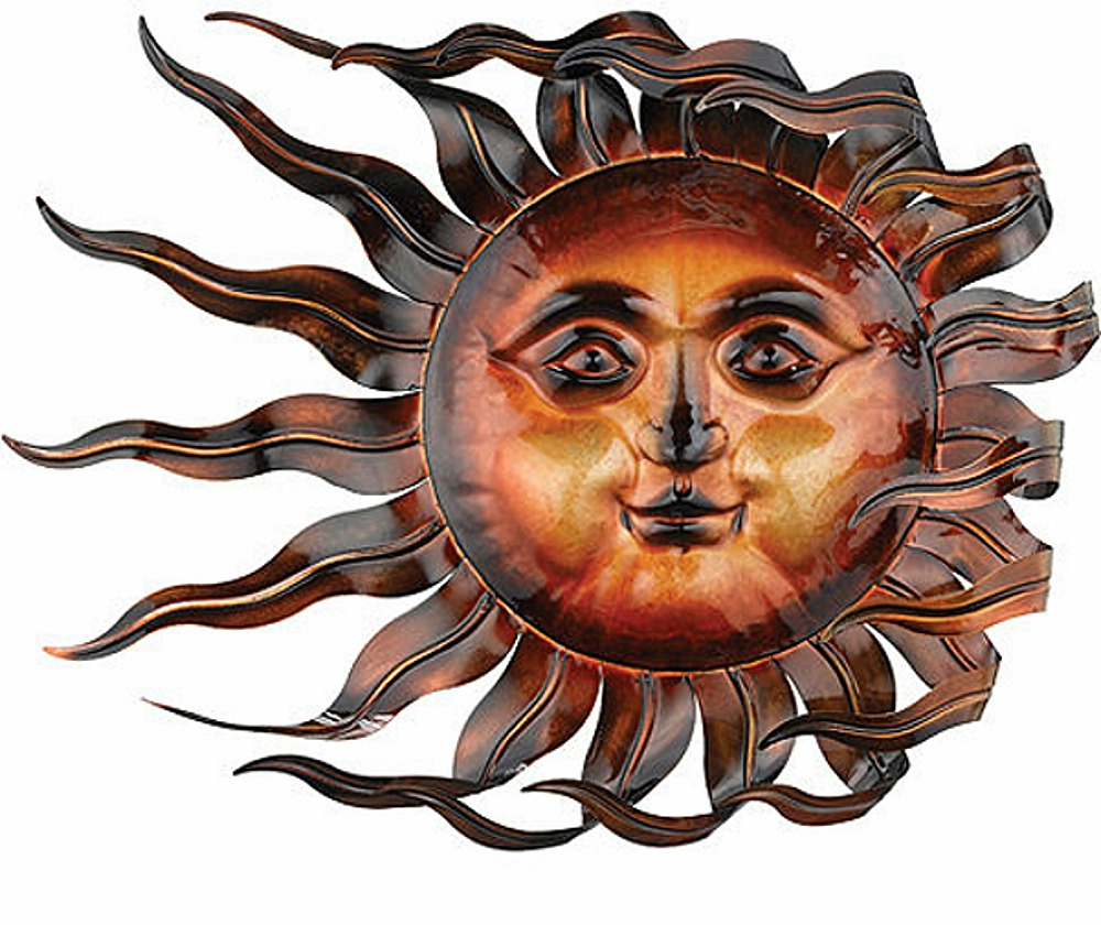 sunswept sun face wall art windswept wind blown indoor outdoor home garden 26 ebay. Black Bedroom Furniture Sets. Home Design Ideas